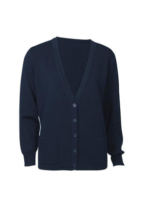 Biz Collection-Biz Collection Ladies Button Through Woolmix Cardigan-Navy / S-Uniform Wholesalers - 3