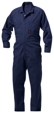 King Gee-King Gee Wash 'n' Wear Combination Polycotton Overall- 65% Poly/35% Cotton-215gsm-Navy / 94L-Uniform Wholesalers