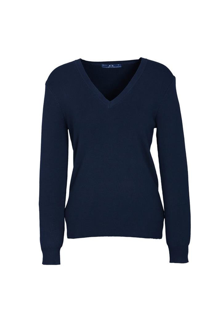 Biz Collection-Biz Collection Ladies V Neck Pullover-Navy / Small-Uniform Wholesalers - 4