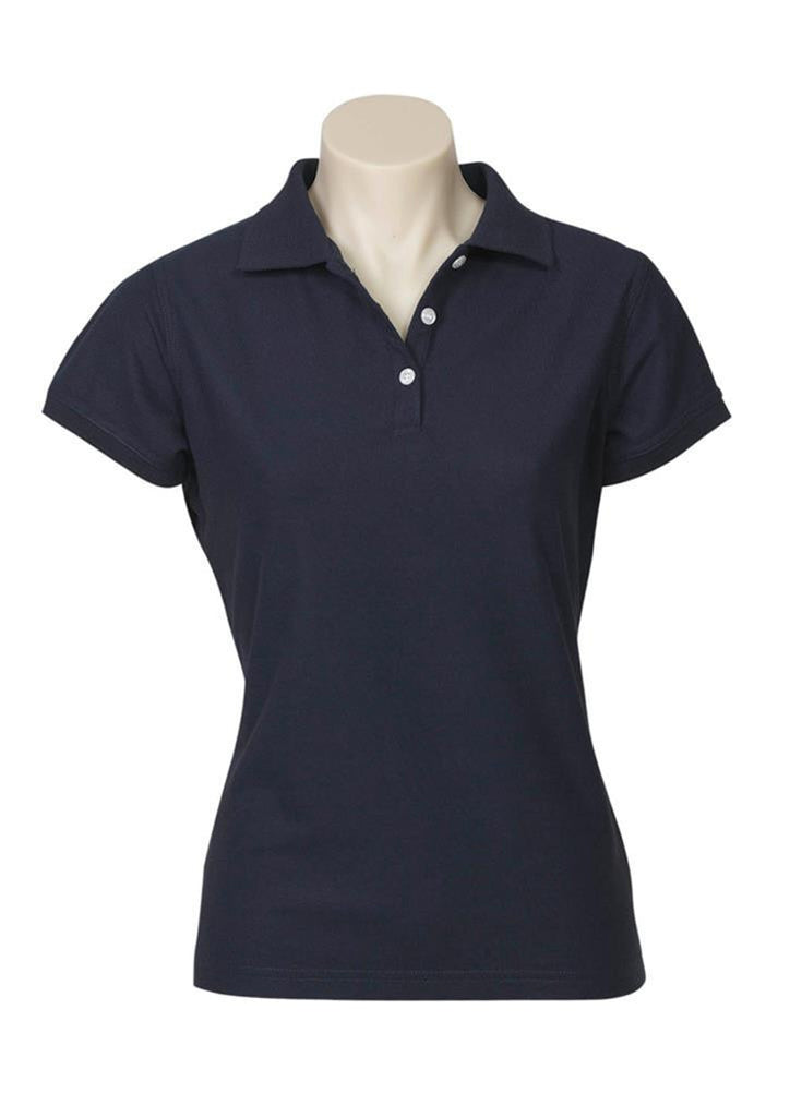 Biz Collection-Biz Collection Ladies Neon Polo-Navy / 6-Uniform Wholesalers - 6