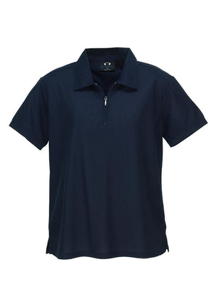 Biz Collection-Biz Collection Ladies Micro Waffle Polo-Navy / 8-Uniform Wholesalers - 4
