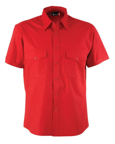 identitee-Identitee Mens Harley Short Sleeve-Red / S-Uniform Wholesalers - 6