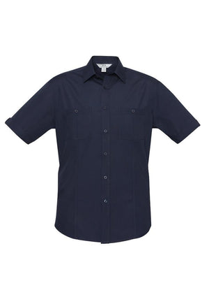 Biz Collection-Biz Collection Mens Bondi Short Sleeve Shirt-Navy / XS-Corporate Apparel Online - 6