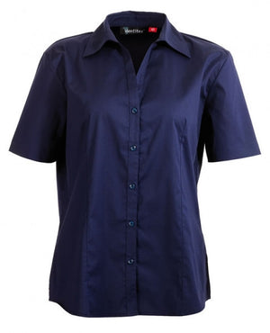 identitee-Identitee Ladies Rodeo Short Sleeve-Navy / 8-Uniform Wholesalers - 5