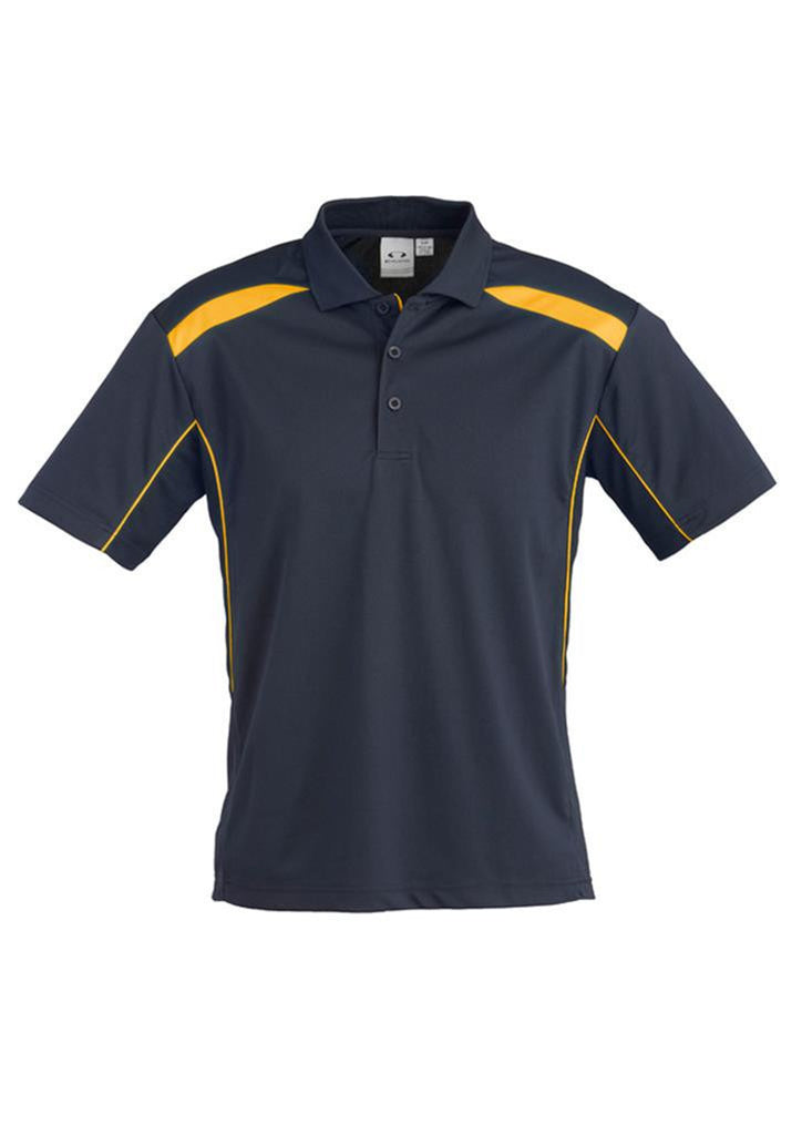 Biz Collection-Biz Collection Mens United Short Sleeve Polo 1st ( 11 Colour )-Navy / Gold / Small-Uniform Wholesalers - 10