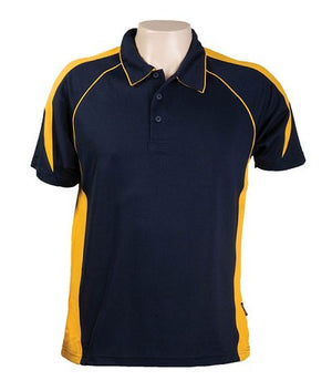 Australian Spirit-Aus Spirt Olympikool Mens Polo 1st ( 10 Colour )-Navy / Gold / S-Uniform Wholesalers - 11