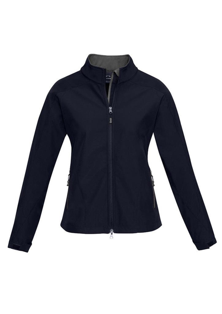 Biz Collection-Biz Collection Geneva Ladies Softshell-Navy/Graphite / S-Uniform Wholesalers - 5