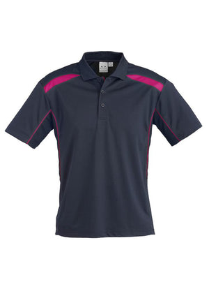 Biz Collection-Biz Collection Mens United Short Sleeve Polo 1st ( 11 Colour )-Navy / Magenta / Small-Uniform Wholesalers - 24