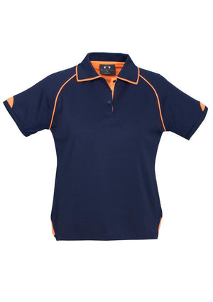 Biz Collection-Biz Collection Ladies Fusion Polo-Navy / Fluro Orange / 8-Uniform Wholesalers - 5