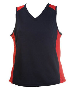 Australian Spirit-Aus Spirt Olympikool Ladies Singlet 2nd ( 9 Colour )-Navy/Red / 8-Uniform Wholesalers - 4