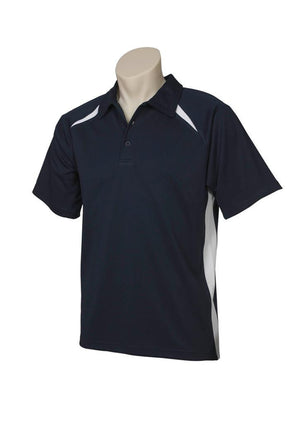 Biz Collection-Biz Collection  Mens Splice Polo 1st ( 10 Colour )-Navy / White / Small-Uniform Wholesalers - 8
