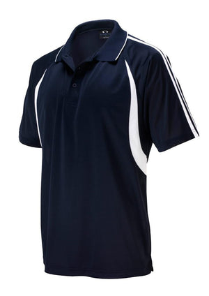Biz Collection-Biz Collection Mens Flash Polo 1st (  9 Colour )-Navy / White / Small-Uniform Wholesalers - 7