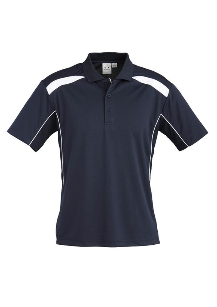 Biz Collection-Biz Collection Mens United Short Sleeve Polo 1st ( 11 Colour )-Navy / White / Small-Uniform Wholesalers - 12
