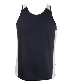 Australian Spirit-Aus Spirt Olympikool Ladies Singlet 2nd ( 9 Colour )-Navy / White / 8-Uniform Wholesalers - 5