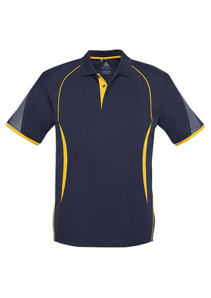 Biz Collection-Biz Collection  Mens Razor Polo-Navy/Gold / S-Uniform Wholesalers - 10