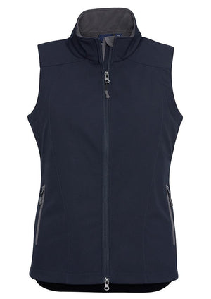 Biz Collection-Biz Collection Ladies Geneva Vest-Navy/Graphite / S-Uniform Wholesalers - 2