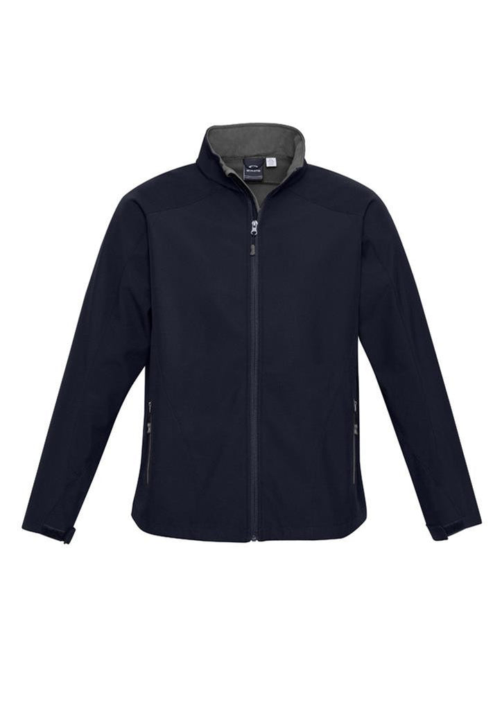 Biz Collection-Biz Collection  Kids Geneva Softshell Jacket-Navy/Graphite / 6-Uniform Wholesalers - 2