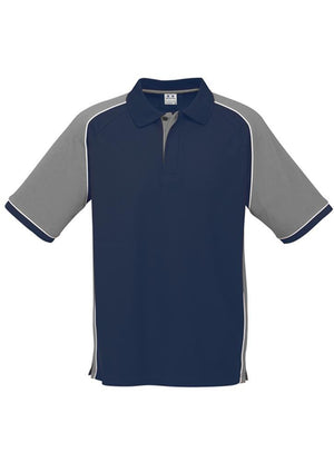 Biz Collection-Biz Collection Mens Nitro Polo-Navy / Grey / White / S-Uniform Wholesalers - 10