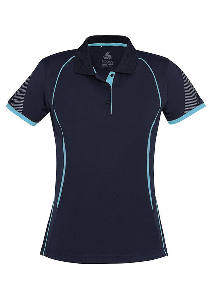 Biz Collection-Biz Collection Ladies Razor Polo-Navy/Sky / 8-Uniform Wholesalers - 1