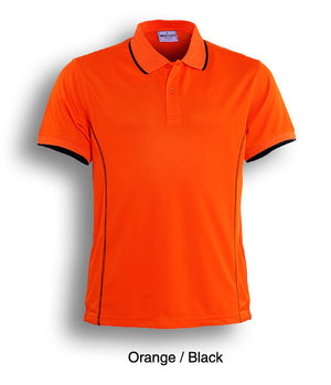 Bocini-Bocini Ladies Stitch Feature Essential  Short Sleeve Polo(2nd 12 colors)-Orange/Black / 8-Uniform Wholesalers - 6