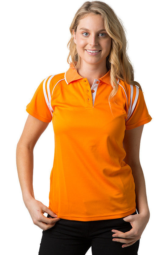 91d7a270 Be Seen Ladies Sleeve Polo Shirt With Striped Collar 2nd( 6 Color ) (The  Cobra)
