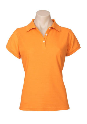 Biz Collection-Biz Collection Ladies Neon Polo-Orange / 6-Uniform Wholesalers - 7