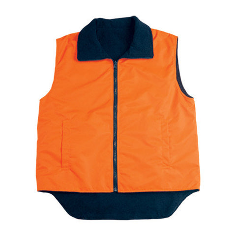 Bocini-Bocini Hi-Vis Reversible Vest-Orange/Navy / S-Uniform Wholesalers - 1