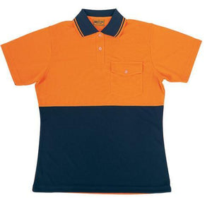 Bocini-Bocini Ladies Hi-Vis Safety Polo-Orange/Navy / 8-Uniform Wholesalers - 2