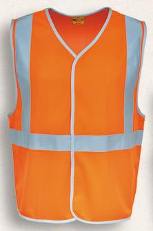 Bocini-Bocini Hi-Vis Vest with X Patten Reflective Tape-Orange / S-Uniform Wholesalers - 2
