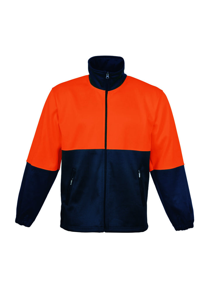 Bocini-Bocini Hi-Vis Polyester Fleece with Full Zip-Orange/Navy / XS-Uniform Wholesalers - 2