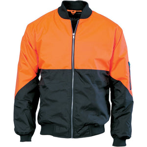 DNC Workwear-DNC Hivis 2 Tone Day Bomber Jacket-XS / Orange/Navy-Uniform Wholesalers - 2