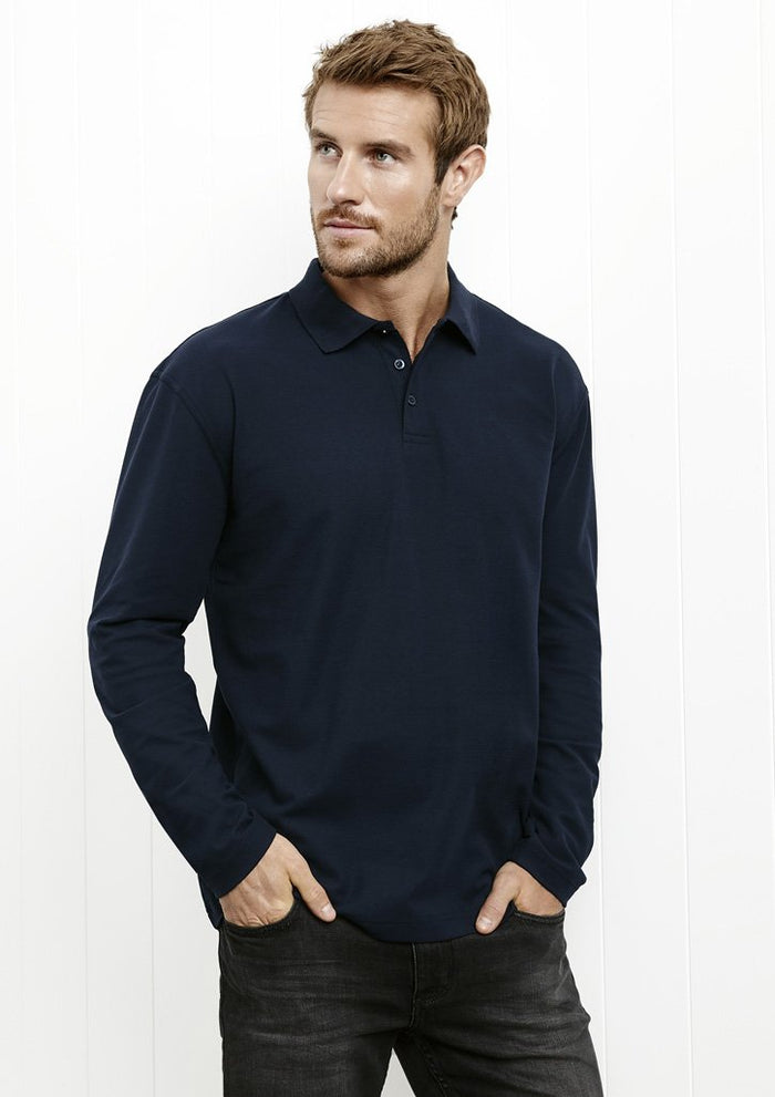 Biz Collection Crew Mens L/S Polo (P400ML)