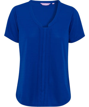 Van Heusen Women'S Easy Care Van Heusen V Neck Jersey Top (VHKS386)