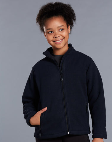 Winning Spirit Frost Kids Bonded Polar Fleece Full Zip Fitted-(PF07K)