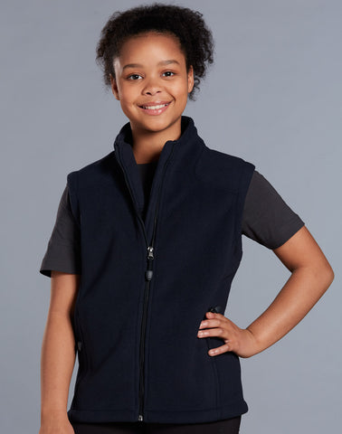 Winning Spirit Kid's Bonded Polar Fleece Vest (PF09K)