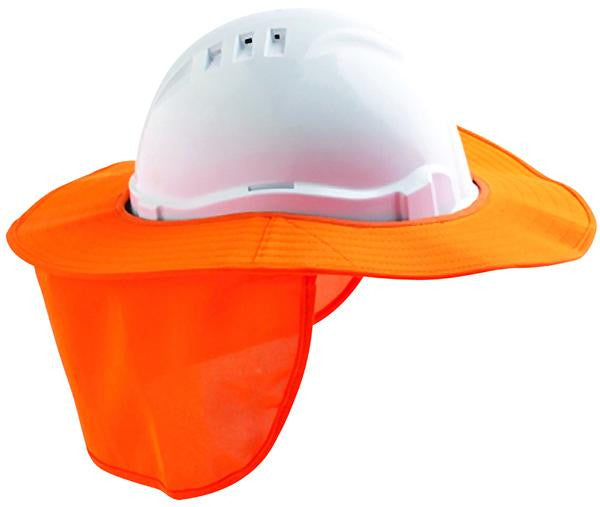DNC Workwear-DNC Datachable Hard Hat Brim with flap--Uniform Wholesalers - 2