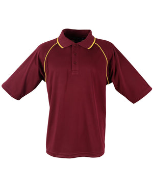 Winning Spirit-Winning Spirit Men's CoolDry® Raglan Short Sleeve Contrast Polo 1st(12 Colour)-Maroon/Gold / S-Uniform Wholesalers - 8