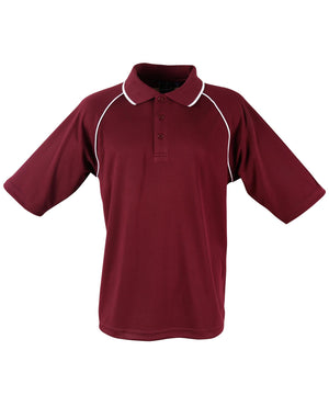 Winning Spirit-Winning Spirit Men's CoolDry® Raglan Short Sleeve Contrast Polo 1st(12 Colour)-Maroon/White / S-Uniform Wholesalers - 9