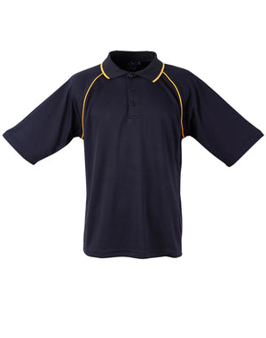 Winning Spirit-Winning Spirit Men's CoolDry® Raglan Short Sleeve Contrast Polo 1st(12 Colour)-Navy/Gold / S-Uniform Wholesalers - 10