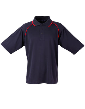 Winning Spirit-Winning Spirit Men's CoolDry® Raglan Short Sleeve Contrast Polo 1st(12 Colour)-Navy/Red / S-Uniform Wholesalers - 11