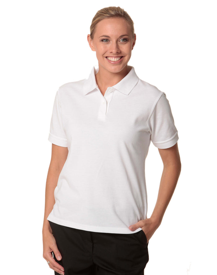 Winning Spirit Ladies' Tight Pique Knit Short Sleeve Polo-(PS23)