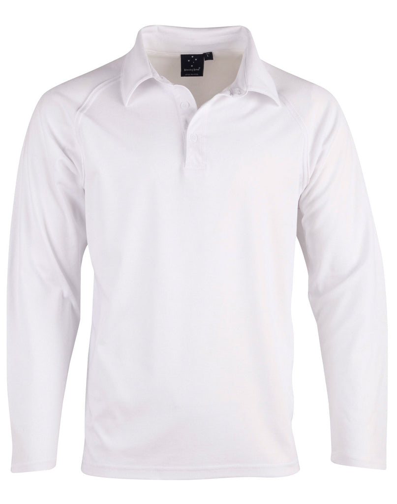 Winning Spirit Men's Cricket Polo Long Sleeve (PS29L)