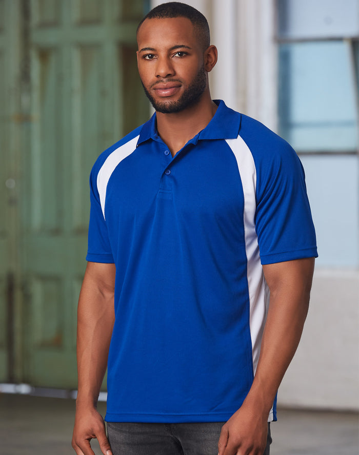 Winning Spirit Men's CoolDry® Micro-mesh Short Sleeve Polo-(PS30)