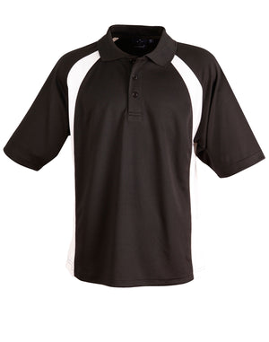 Winning Spirit-Winning Spirit Men's CoolDry® Micro-mesh Short Sleeve Polo-Black/white / S-Uniform Wholesalers - 2