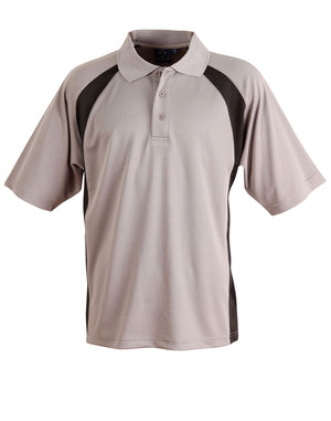 Winning Spirit-Winning Spirit Men's CoolDry® Micro-mesh Short Sleeve Polo-Grey/black / S-Uniform Wholesalers - 3