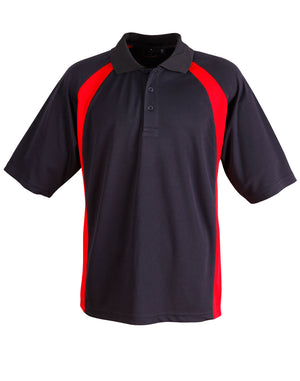 Winning Spirit-Winning Spirit Men's CoolDry® Micro-mesh Short Sleeve Polo-Navy/red / S-Uniform Wholesalers - 4