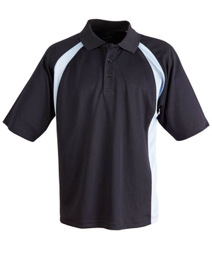 Winning Spirit-Winning Spirit Men's CoolDry® Micro-mesh Short Sleeve Polo-Navy/sky / S-Uniform Wholesalers - 5