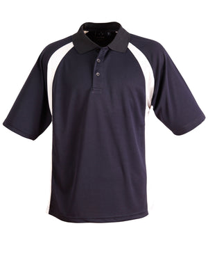 Winning Spirit-Winning Spirit Men's CoolDry® Micro-mesh Short Sleeve Polo-Navy/white / S-Uniform Wholesalers - 6