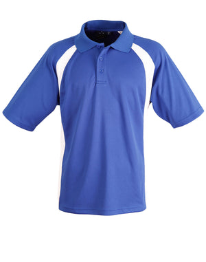 Winning Spirit-Winning Spirit Men's CoolDry® Micro-mesh Short Sleeve Polo-Royal/white / S-Uniform Wholesalers - 7