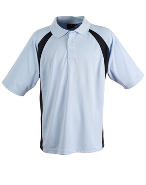 Winning Spirit-Winning Spirit Men's CoolDry® Micro-mesh Short Sleeve Polo-Sky/navy / S-Uniform Wholesalers - 8